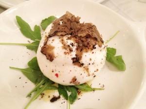 Burrata, tartufo, Don Lisander; Blog Esteban Capdevila