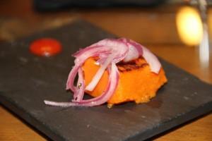 Calabaza con cebolla encurtida. Blog Esteban Capdevila