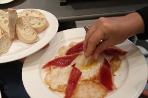 Huevo frito de Ganso Ibérico de Dehesa. Blog Esteban Capdevila