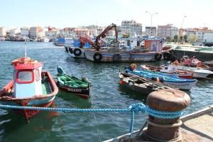 Barcos pescadores Puerto de O Grove. Blog Esteban Capdevila