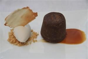 Bizcocho Líquido de Chocolate con Helado de Plátano. Rte. Lágrimas negras. blog Esteban Capdevila
