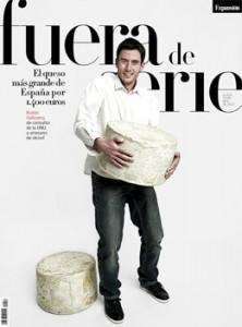 Rubén Valbuena y su queso 40 Cantagrullas portada de Fuera de serie. Blog Esteban Capdevila