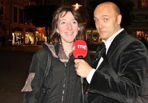 Esteban Capdevila entrevista con el micro de RNE de Nómadas en Albi (Francia). Blog Esteban Capdevila