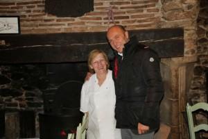 La cocinera Gigi con Esteban Capdevila
