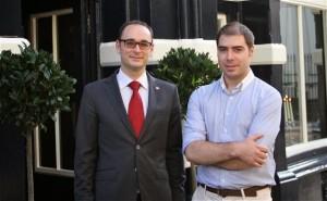 Agustín Trapero y Álvaro Prieto en Londres. BLog Esteban Capdevila