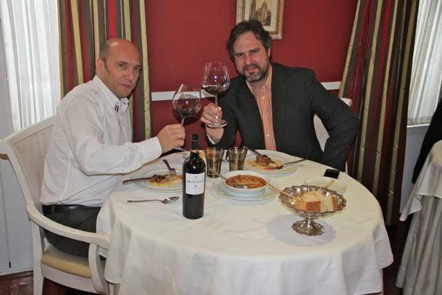 Esteban Capdevila y Juanma Terceño en el Restaurante Palio con Finca Moncloa