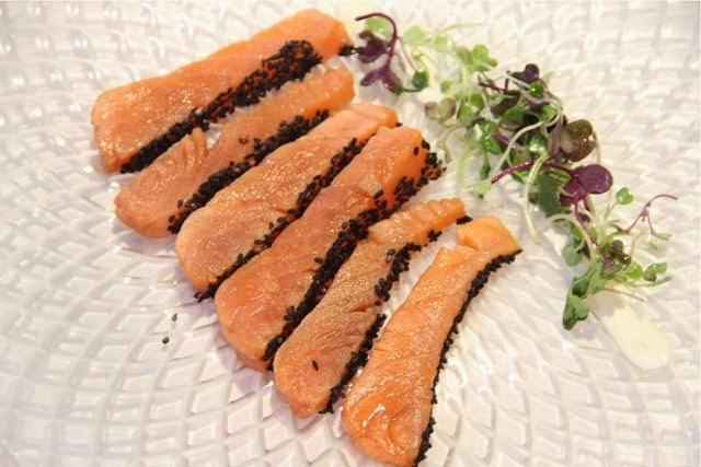 Tataki de salmón Restaurante Palio. Blog Esteban Capdevila