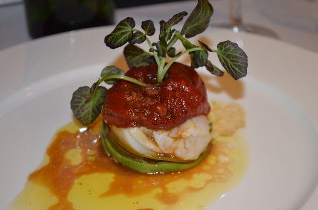 ensalada tibia de bacalao restaurante Aldaba. Blog Esteban Capdevila