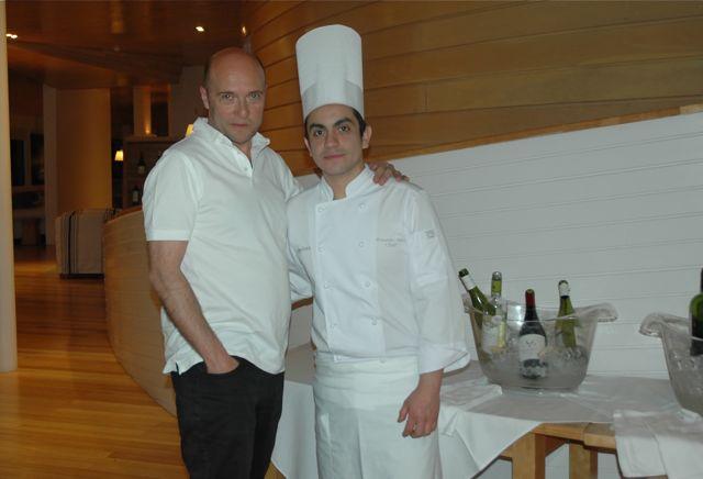 Esteban Capdevila y el Chef Rolando Díaz en Patagonia