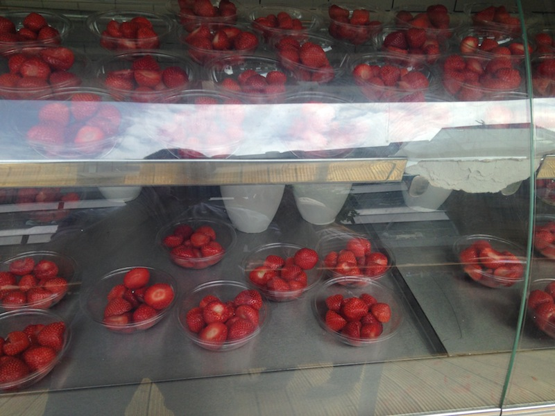 Puesto de fresas