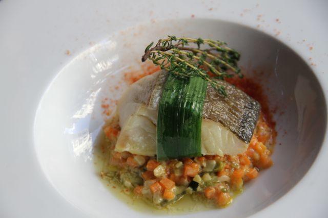 Bacalao infusionado en cítricos con falso risotto de verduras-GRANVÍA-UNO