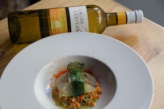 Bacalao infusionado en cítricos con falso risotto de verduras-MARIDAJE-LAGAR-DE-CERVERA-GRANVÍA-UNO