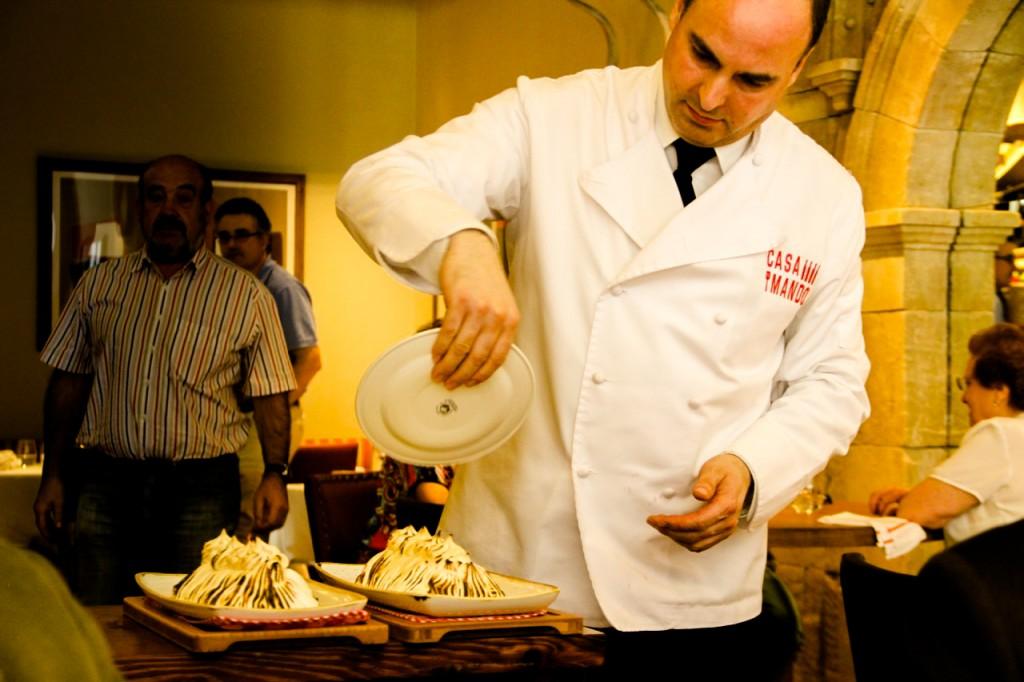 preparación corte del sufle CASA MANDO