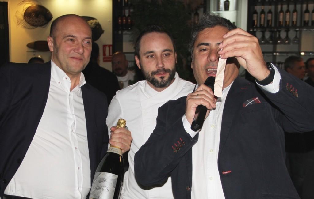 ESTEBAN CAPDEVILA,FRAN Y ALBERTO CHAMPAGNE SANGER GASTRONOMÍA CON CORAZÓN - 1