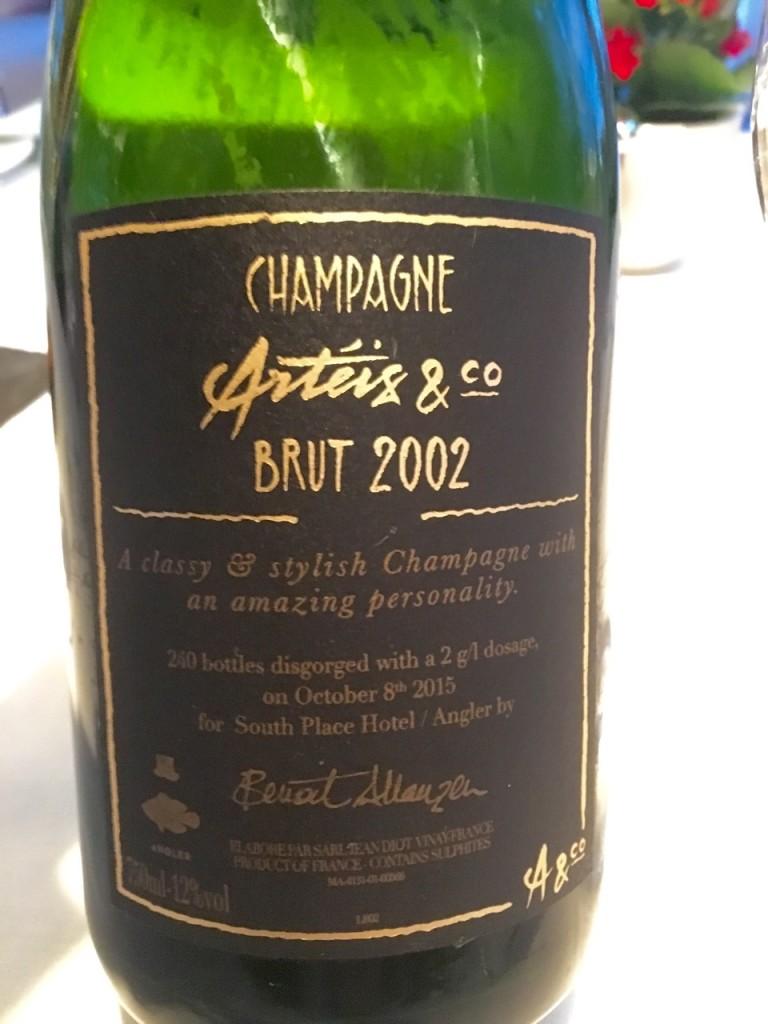 CHAMPAGNE ARTÉIS & CO BRUT 2002 PERSONALIZADA ANGLER - 1